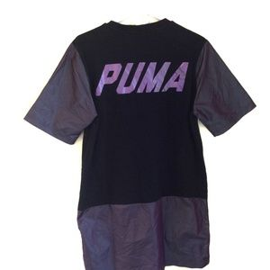 Mens Puma Oversized shirt Large spell out Black